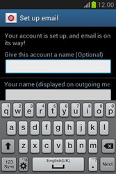 Samsung Galaxy Fame Lite - E-mail - manual configuration - Step 20