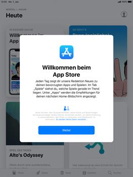 Apple iPad Air 2 - iOS 12 - Apps - Konto anlegen und einrichten - Schritt 3