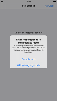 Apple iPhone 8 Plus - iOS 13 - Beveiliging - stel in of wijzig pincode voor je toestel - Stap 6