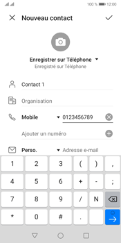 Huawei Y5P - Contact, Appels, SMS/MMS - Ajouter un contact - Étape 7