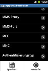 Samsung Galaxy Ace - MMS - Manuelle Konfiguration - 0 / 0