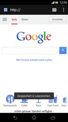 Sony Xperia V - Internet und Datenroaming - Verwenden des Internets - Schritt 12