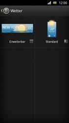 Sony Xperia U - Startanleitung - Installieren von Widgets und Apps auf der Startseite - Schritt 6