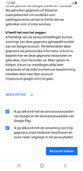Samsung galaxy-s8-sm-g950f-android-pie - Applicaties - Account aanmaken - Stap 18