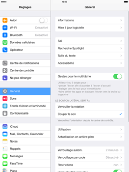 Apple iPad Retina iOS 7 - Bluetooth - Jumelage d