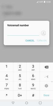 LG V30 - Voicemail - Manual configuration - Step 8