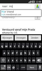 LG P940 PRADA phone by LG - e-mail - hoe te versturen - stap 6