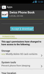 ZTE Blade III - Applications - Installing applications - Step 8