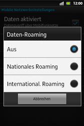 Sony Xperia Go - Ausland - Im Ausland surfen – Datenroaming - 9 / 12