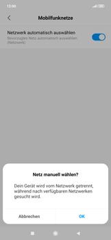 Xiaomi RedMi Note 7 - Netzwerk - Manuelle Netzwerkwahl - Schritt 8