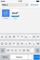 Apple iPhone 4S iOS 7 - Internet et roaming de données - navigation sur Internet - Étape 18