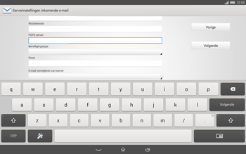 Sony Xperia Tablet Z2 4G (SGP521) - E-mail - Handmatig instellen - Stap 10