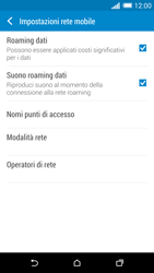HTC One M8 - Internet e roaming dati - Disattivazione del roaming dati - Fase 5
