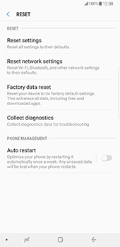 Samsung Galaxy Note 8 - Device - Factory reset - Step 7