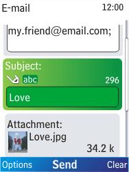 Nokia X2-00 - E-mail - Sending emails - Step 13