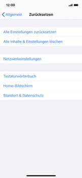 Apple iPhone X - iOS 13 - Fehlerbehebung - Handy zurücksetzen - Schritt 7