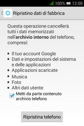 Alcatel Pixi 3 (3.5) - Dispositivo - Ripristino delle impostazioni originali - Fase 8