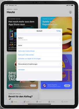 Apple iPad Pro 12.9 (1st gen) - ipados 13 - Apps - Nach App-Updates suchen - Schritt 6