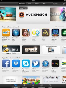 Apple iPad Retina - Apps - Einrichten des App Stores - Schritt 4