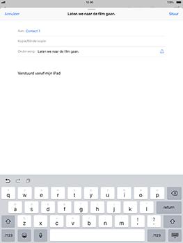 Apple iPad Pro 10.5 inch met iOS 11 (Model A1709) - E-mail - Hoe te versturen - Stap 7