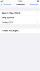 Apple iPhone 8 - iOS 14 - Startanleitung - So fügen Sie eine Tastatursprache hinzu - Schritt 8