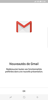 Samsung Galaxy S8 Plus - E-mail - 032a. Email wizard - Gmail - Étape 5