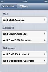 Apple iPhone 3GS - E-mail - Manual configuration - Step 6