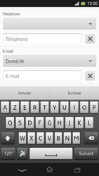Sony Xpéria SP - Contact, Appels, SMS/MMS - Ajouter un contact - Étape 9