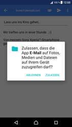 Sony Xperia XZ - Android N - E-Mail - E-Mail versenden - 0 / 0