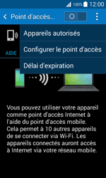 Samsung Galaxy Trend 2 Lite - Internet et connexion - Partager votre connexion en Wi-Fi - Étape 7