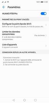 Huawei P20 pro - Internet et connexion - Partager votre connexion en Wi-Fi - Étape 10