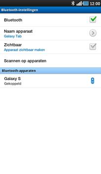 Samsung P1000 Galaxy Tab - Bluetooth - Headset, carkit verbinding - Stap 9