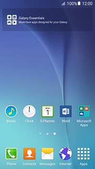 Samsung Galaxy A8 - Getting started - Installing widgets and applications on your start screen - Step 3