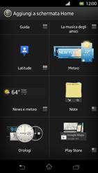 Sony Xperia T - Operazioni iniziali - Installazione di widget e applicazioni nella schermata iniziale - Fase 5