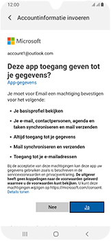Samsung Galaxy A40 - E-mail - Handmatig instellen (outlook) - Stap 9