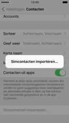 Apple iPhone SE met iOS 10 (Model A1723) - Contacten en data - Contacten kopiëren van SIM naar toestel - Stap 5