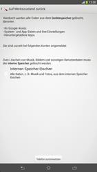Sony Xperia Z Ultra LTE - Fehlerbehebung - Handy zurücksetzen - Schritt 8