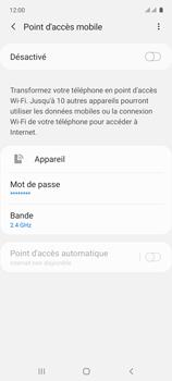 Samsung Galaxy A71 - Internet et connexion - Partager votre connexion en Wi-Fi - Étape 7