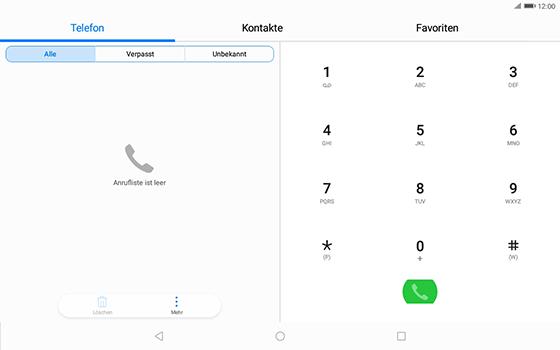 Huawei MediaPad T3 (10.0) LTE - Anrufe - Rufumleitungen setzen und löschen - Schritt 3