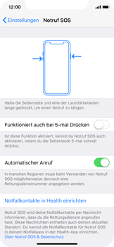 Apple iPhone X - iOS 11 - Notfall – SOS - 1 / 1