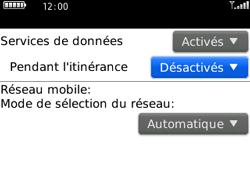 BlackBerry 8520 - Aller plus loin - Désactiver les données à l'étranger - Étape 7