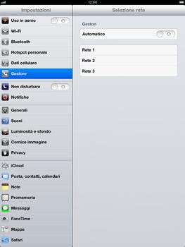 Apple iPad Retina - Rete - Selezione manuale della rete - Fase 6