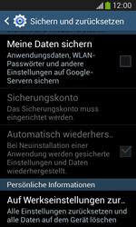 Samsung S7275 Galaxy Ace 3 - Fehlerbehebung - Handy zurücksetzen - Schritt 8
