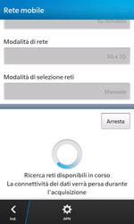 BlackBerry Z10 - Rete - Selezione manuale della rete - Fase 8