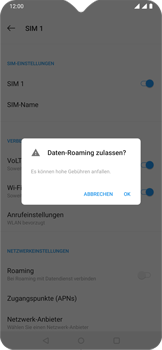 OnePlus 6T - Ausland - Im Ausland surfen – Datenroaming - 10 / 13