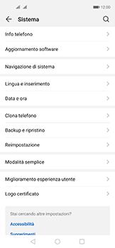 Huawei Nova 5T - Dispositivo - Ripristino delle impostazioni originali - Fase 5