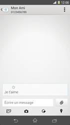 Sony Xpéria Z1 - Contact, Appels, SMS/MMS - Envoyer un SMS - Étape 9