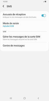 Samsung Galaxy S9 Plus - Android Pie - SMS - configuration manuelle - Étape 10