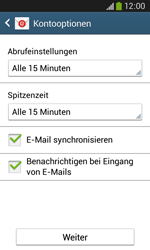 Samsung S7275 Galaxy Ace 3 - E-Mail - Konto einrichten - Schritt 17