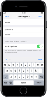 Apple iPhone XR - Applications - Create an account - Step 13